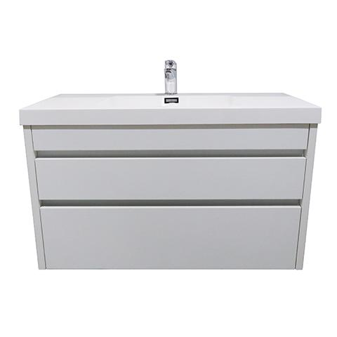 ELITE CUBE 1000 2 DRAWER WALL HUNG STOCK VANITY & TOP