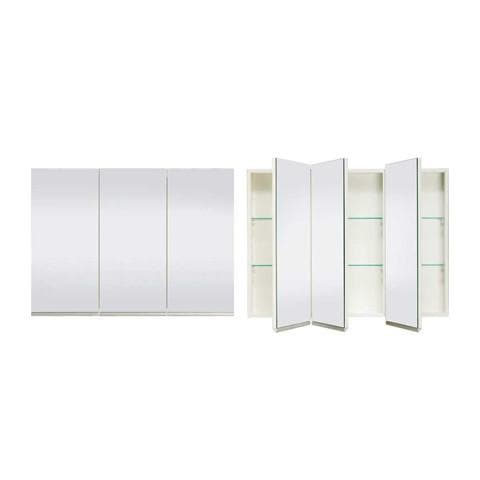 ST MICHEL DANTE DEEP PLUS MIRROR CABINET WHITE 1050MM