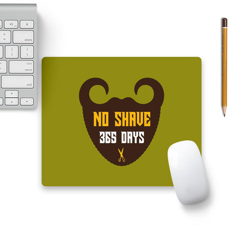 365 Days Of Beard No Shave Mouse Pad Beige Base