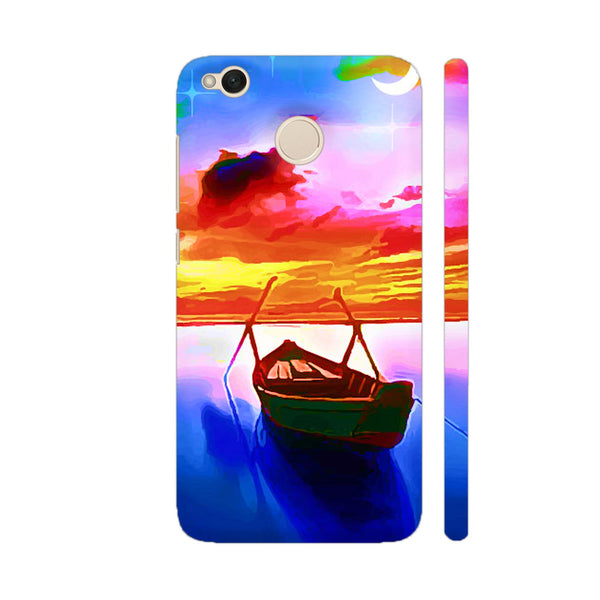 Boat In Beautiful Scenery Xiaomi Redmi 4 Cover | Artist: Sangeetha