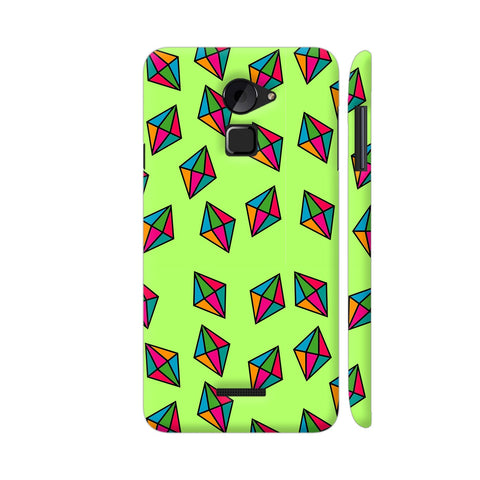 Diamond Pattern On Green Coolpad Note 3 Lite Cover | Artist: Malls