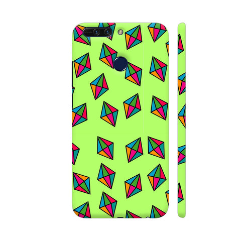 Diamond Pattern On Green Honor 8 Pro Cover | Artist: Malls