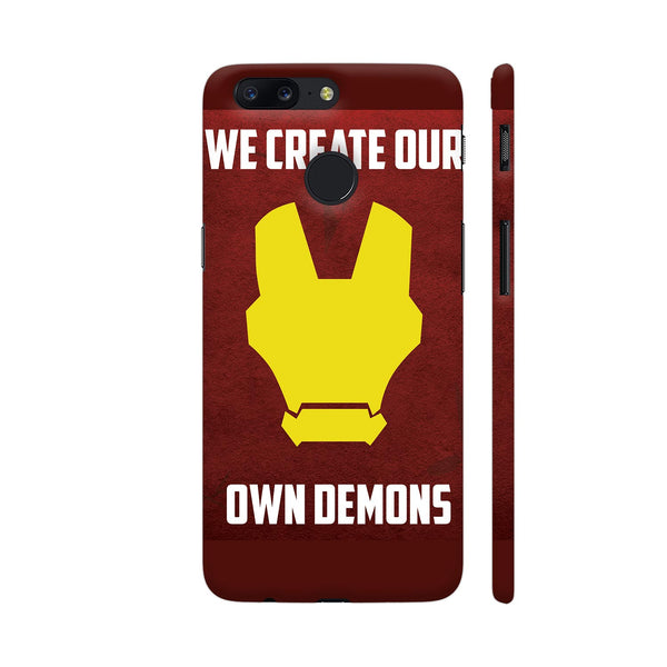 Iron Man We Create Our Own Demons OnePlus 5T Cover | Artist: Captain Gooner