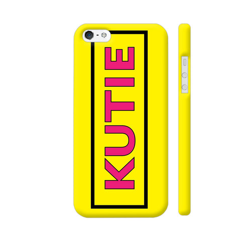 Kutie On Yellow iPhone 5 / 5s Cover | Artist: Malls