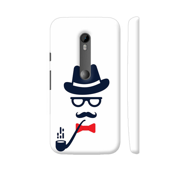 Man With Hat Bow And Cigar Moto G Turbo Cover | Artist: Neeja Shah