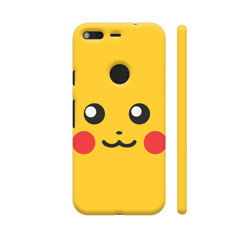Pokemon Go Pikachu On Yellow Google Pixel Cover | Artist: Manik Chawla