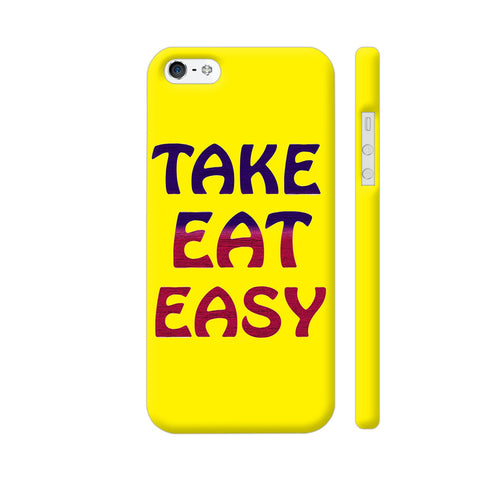 Take Eat Easy On Yellow iPhone 5 / 5s Cover | Artist: Malls
