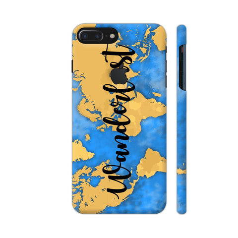 Wanderlust Map iPhone 7 Plus Logo Cut Cover | Artist: Ashish Singh