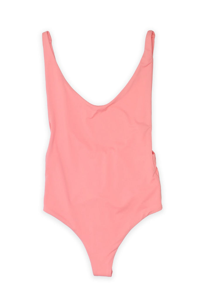 Ada High Cut Thong One Piece in Coral