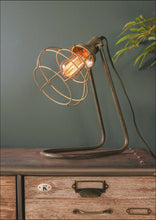 Industrial Retro Style Caged Bedside Light LED Desk Lamp Vintage Electric - Whaleycorn