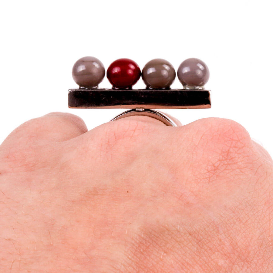 Centouno Grey & Bordeaux Ring