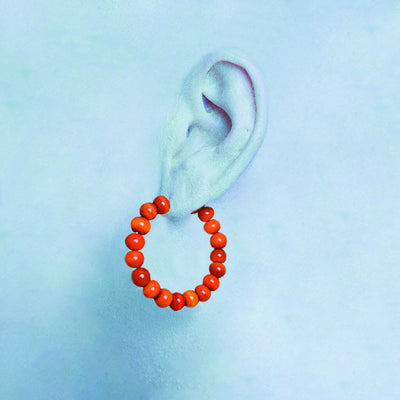 Centouno Red Round Earrings Earrings by Cosima Montavoci - Sunset Yogurt