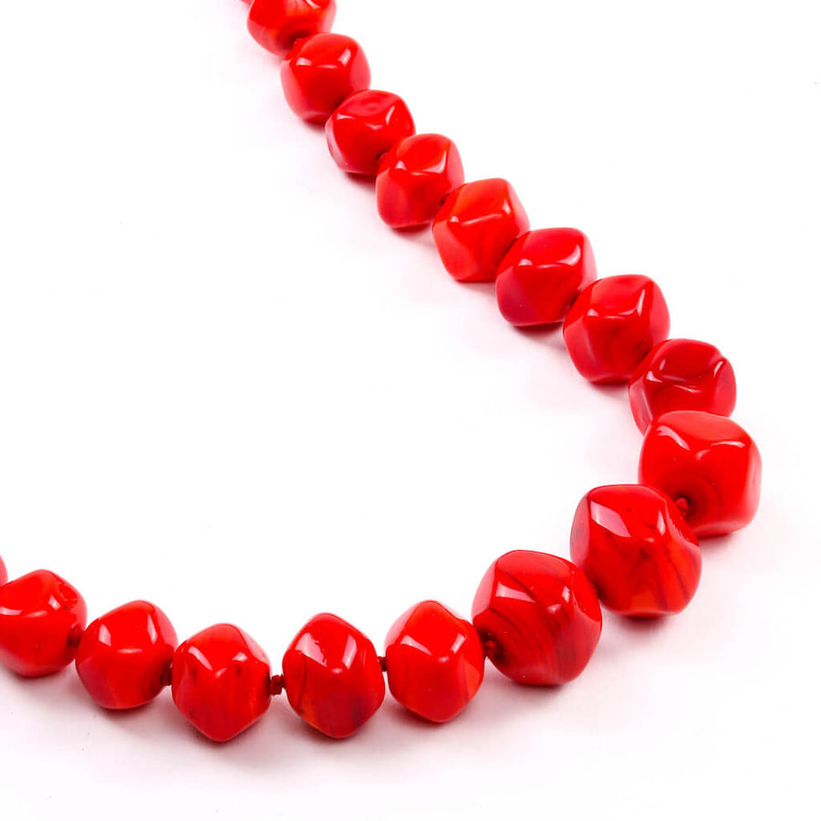 Squarebeat Red Necklace