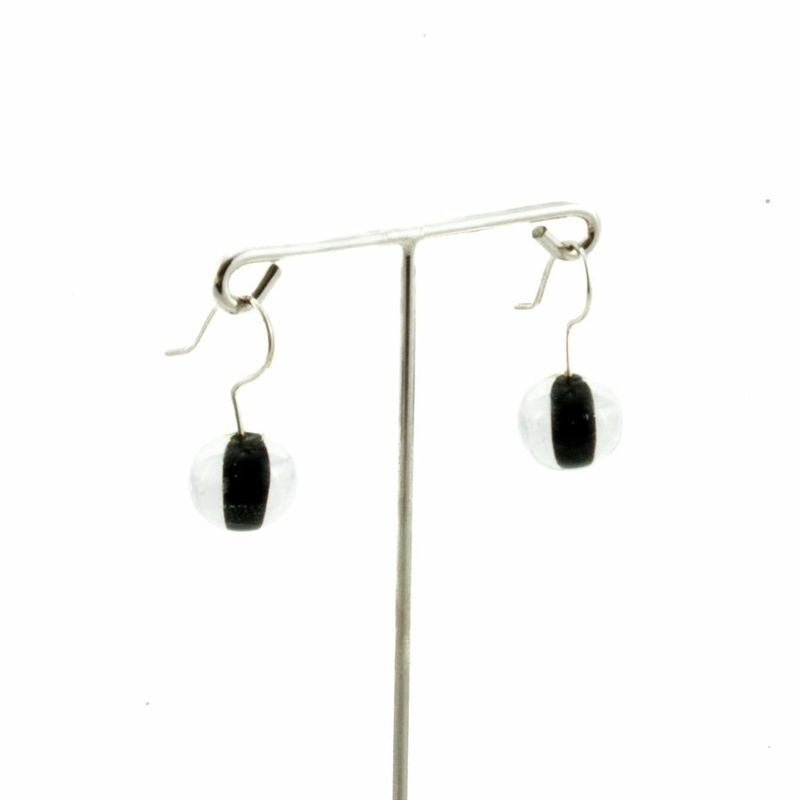 Biglia Black Short Earrings