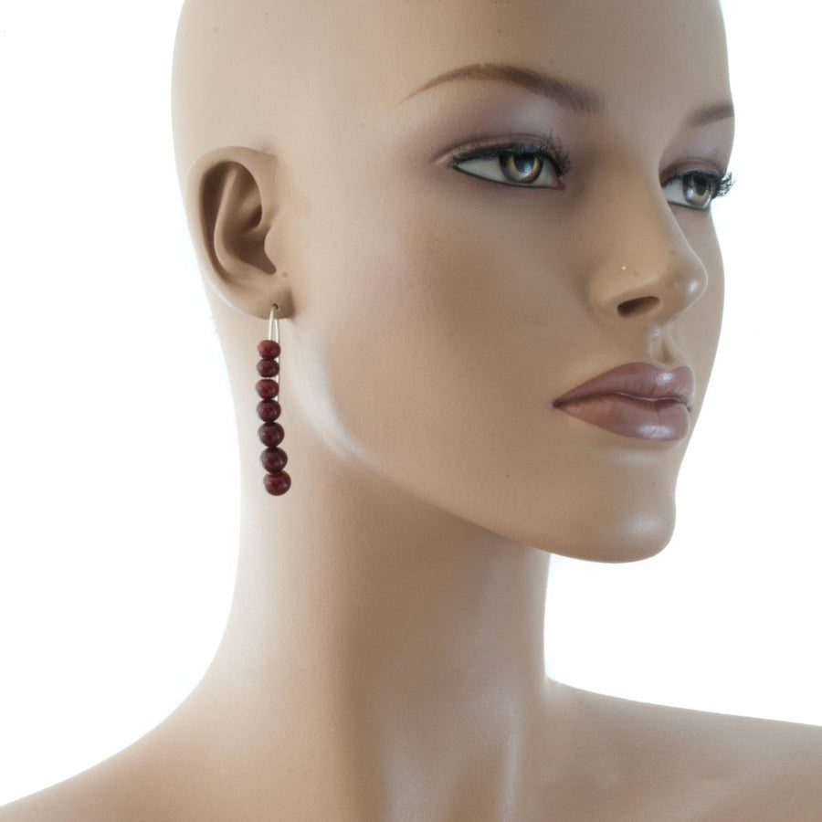 Centouno Bordeaux Dangle Earrings
