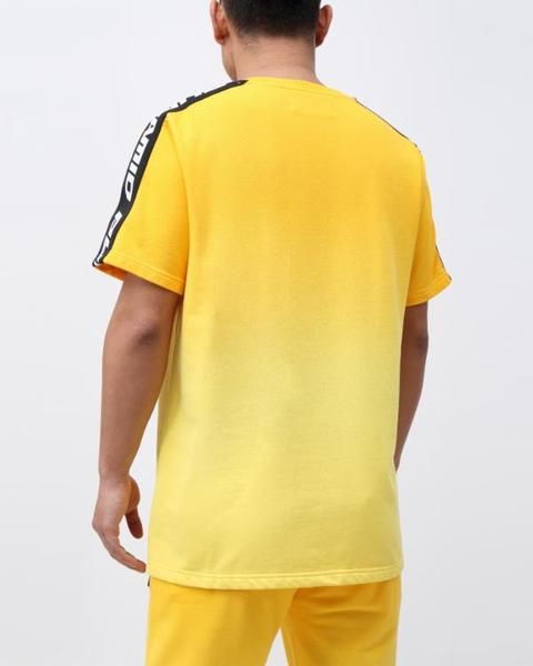 BIG AND TALL DIP DYE PASTEL SHIRT-COLOR: YELLOW