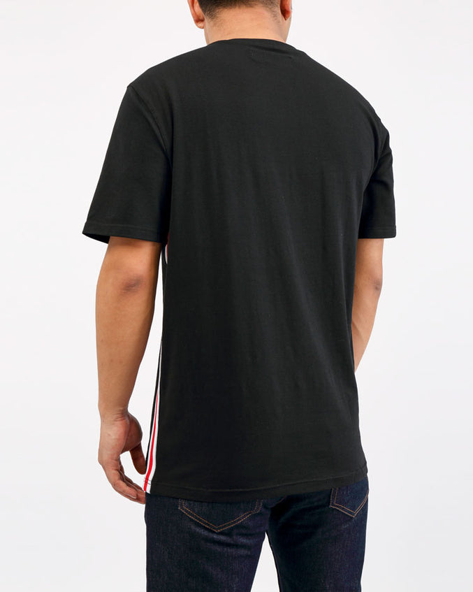 ARCHED DRIP B BALL TOP-COLOR: BLACK