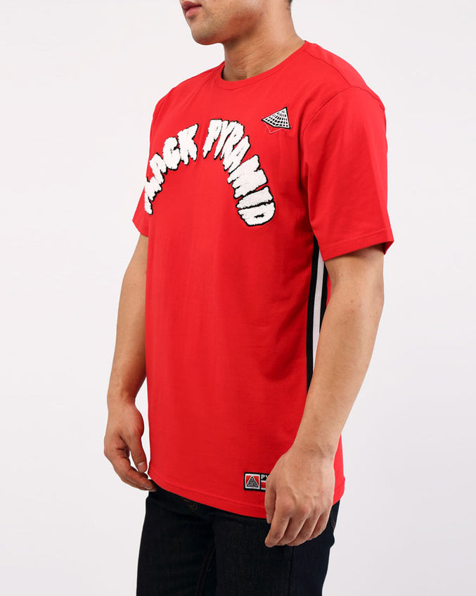 ARCHED DRIP B BALL TOP-COLOR: RED
