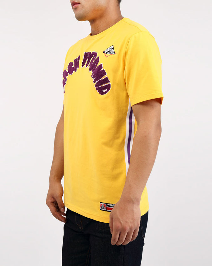 ARCHED DRIP B BALL TOP-COLOR: YELLOW