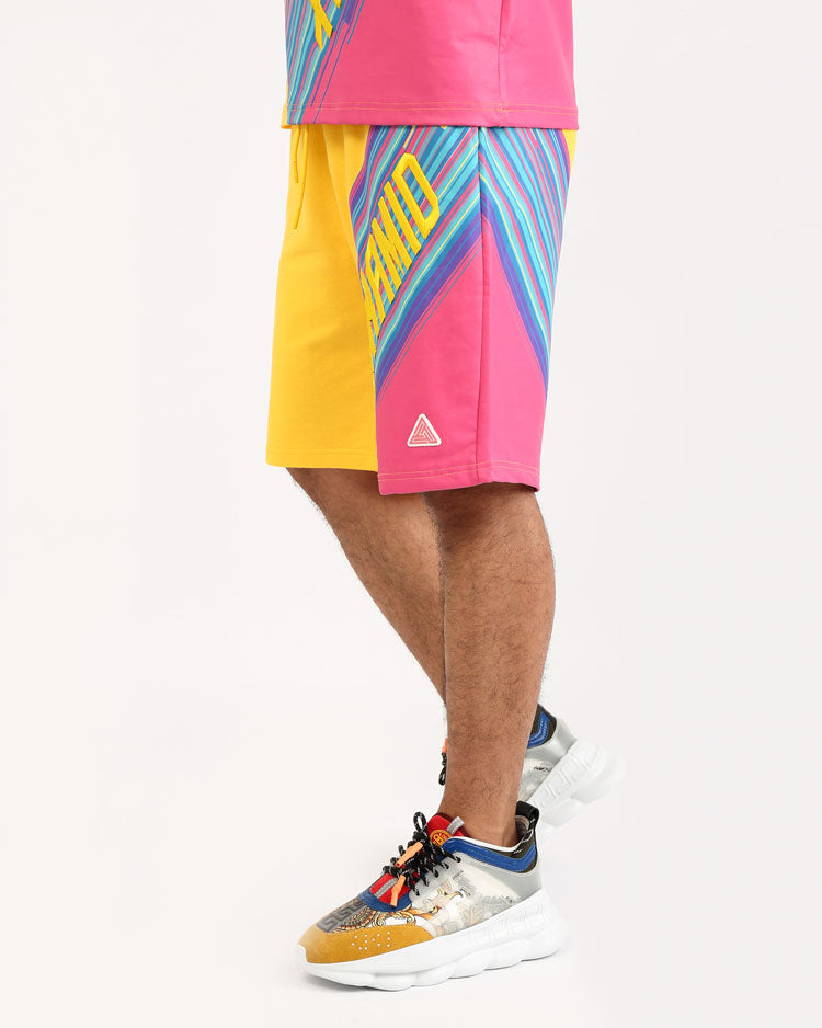 GEO BLAST SHORTS-COLOR: YELLOW