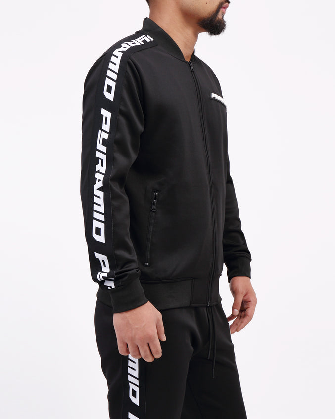 Pyramid Taping Track Jacket - Color: Black