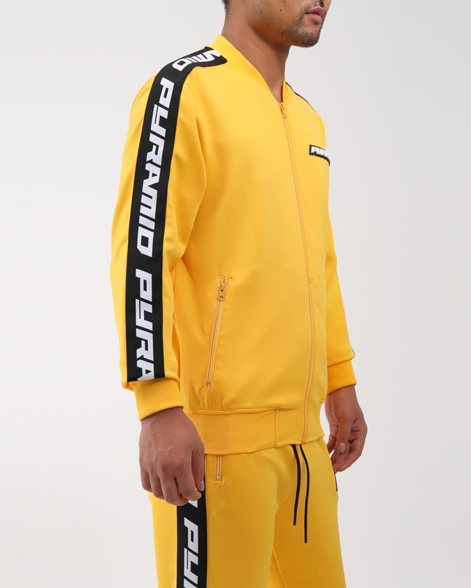 Pyramid Taping Track Jacket - Color: Yellow