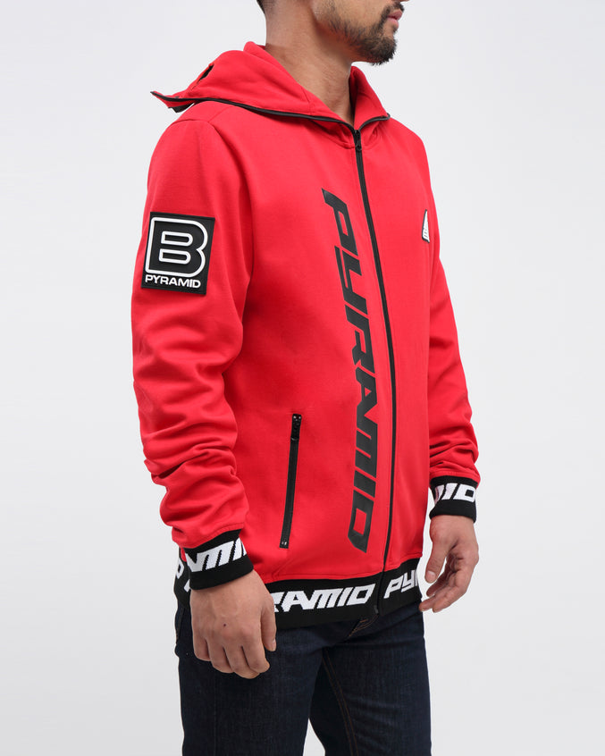 GOGGLES ZIP UP JACKET - Color: RED