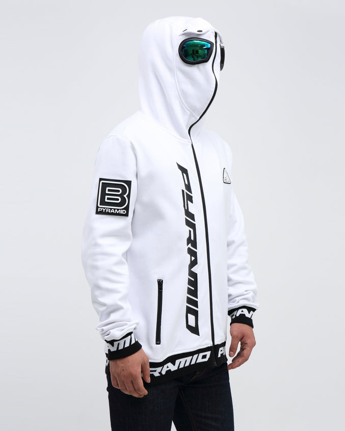 GOGGLES ZIP UP JACKET - Color: WHITE