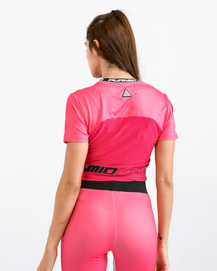 WOMENS MATRIX LOGO CROP TOP-COLOR: PINK