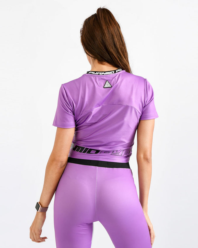 WOMENS MATRIX LOGO CROP TOP-COLOR: PURPLE