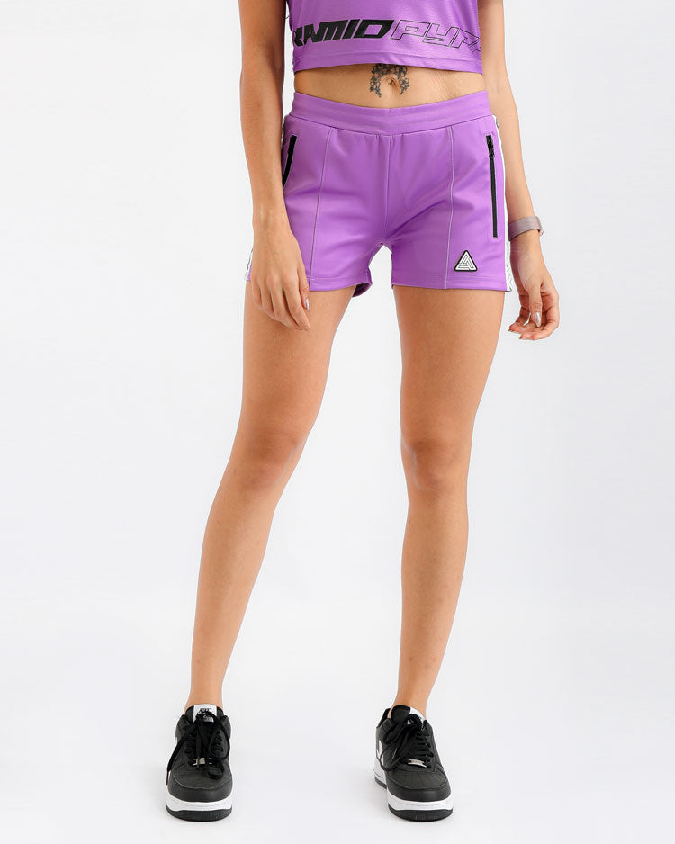 WOMENS TAPED TRACK SHORT-COLOR: PURPLE