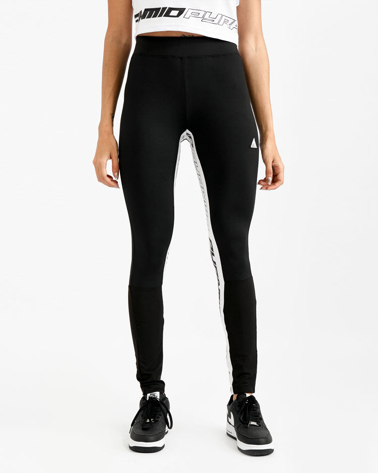 WOMENS MIXED FABRIC TAPED LEGGINGS