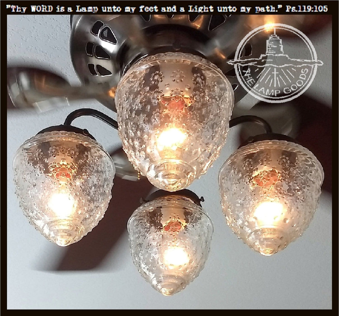 Island Falls Ceiling Fan LIGHT KIT Collection - The Lamp Goods
