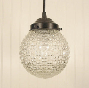 Diamond Square Glass PENDANT Light Fixture - The Lamp Goods