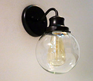Biddeford II. Glass WALL Light with Edison Bulb - The Lamp Goods