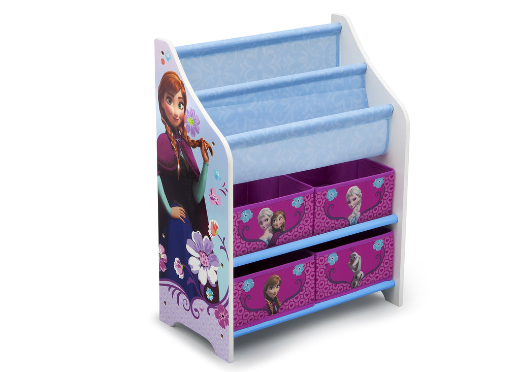 Delta Children Frozen Book and Toy Organizer Right View a1a