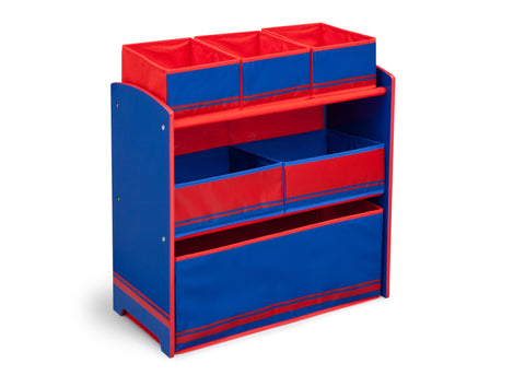 Generic Blue/Red Wooden Toy Organizer
