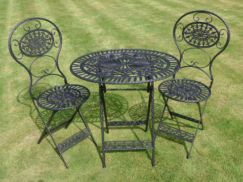 3PCS Garden Bistro Furniture Set In Black | Furniture Checklist