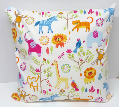 Jungle Boogie Zoo Animals Cushion Cover