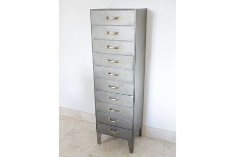 Industrial Cabinet Storage Unit Tall Cabinet Office Organizer H140cm x W41cm x D36cm | furniturechecklist.co.uk