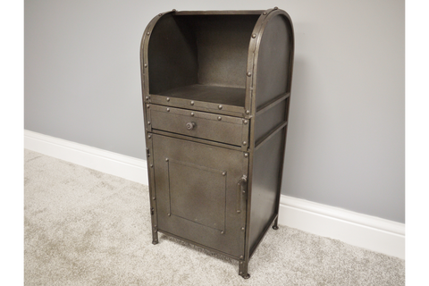 Industrial Style Metal Bedside Cabinet | furniturechecklist.co.uk