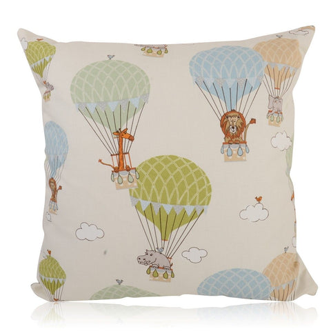 Fun Zoo Animals Air Balloon Handmade Cushion Cover Furniture Checklist