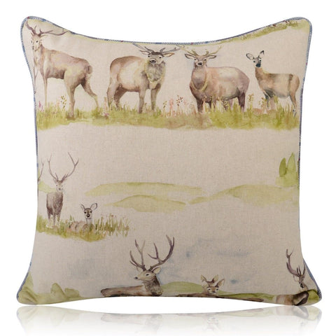 Moorland Stags Pipe Cushion Covers / Bolster Cushion | furniturechecklist.co.uk