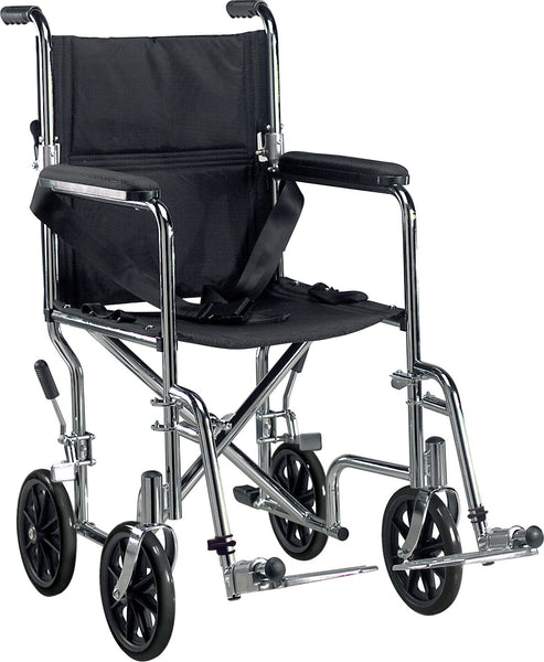 Go Cart Light Weight Steel Transport Wheelchair with Swing Away Footrest - Accord Medical Supply
