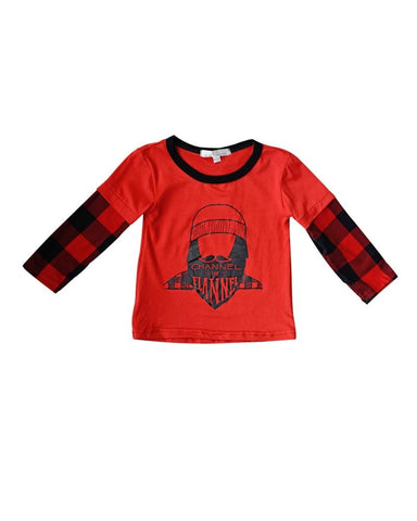 Boys Buffalo Plaid Channel the Flannel Shirt