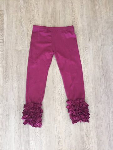 *Plum Ruffle Icing Legging Pant *New Sizing**