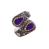 Diamond & Sugilite Ring