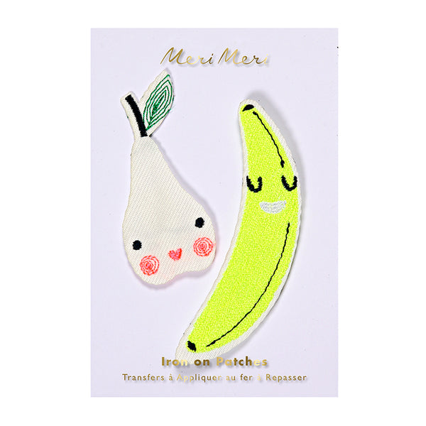 Happy Fruit (Pear & Banana) Iron-On Patches