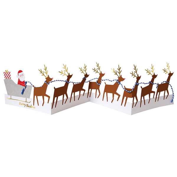 Santa and Reindeer Concertina Card