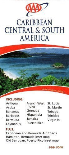 us topo - AAA Caribbean, Central & South America: Including Antigua, Aruba, Bahamas, Barbados, Bermuda, Cayman - Wide World Maps & MORE! - Book - Wide World Maps & MORE! - Wide World Maps & MORE!
